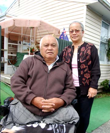 MORE TIME: Michael and Moepai Temata have lived in this Housing New Zealand home for 47 years but will be relocated when the area is redeveloped.