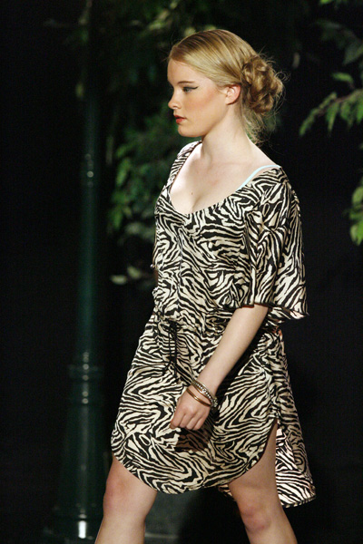 Model Sophie Blackley wearing a design by Anna Vass at the Southern Institute of Technology Chrysalis Graduates Showcase dress rehearsal at Centrestage last night.