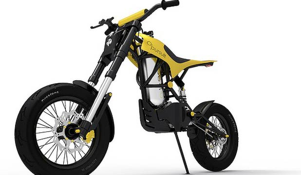 "The ""O2 Pursuit"" compressed air-powered motorbike."