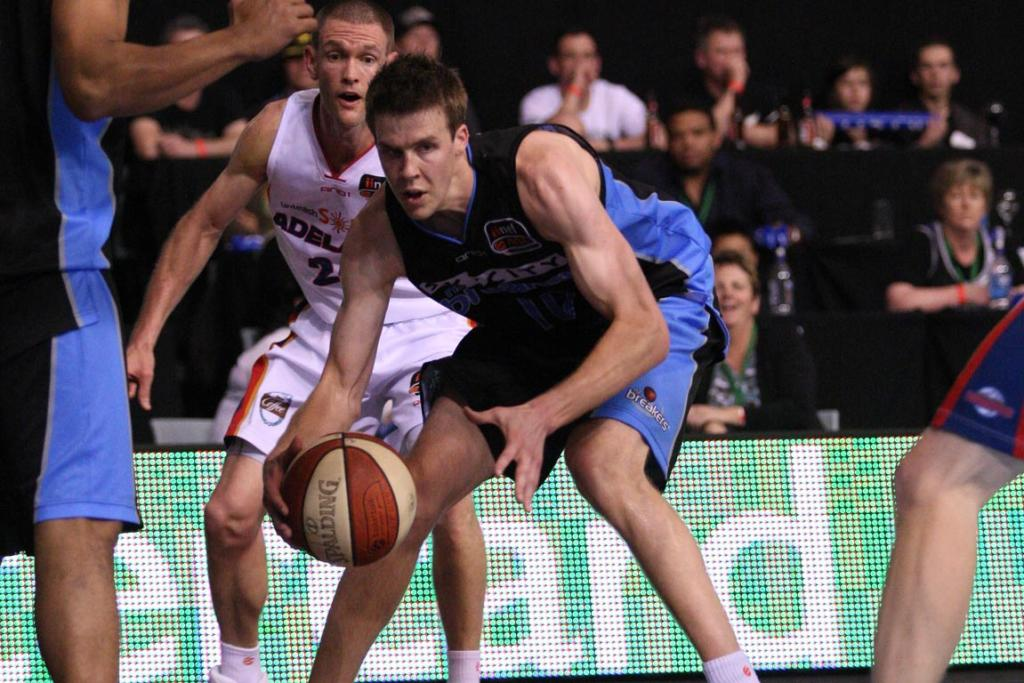 Breakers forward Tom Abercrombie in action.