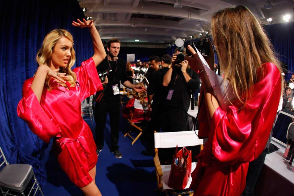 Victoria's secret backstage.