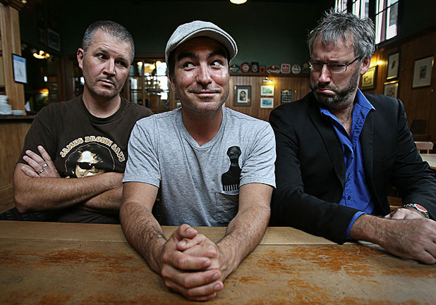 WEEKLY WARRIORS: Paul Ego, Dai Henwood and Jeremy Corbett are the stars of TV3's 7 Days.