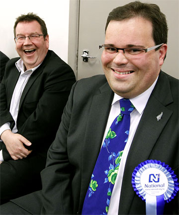 Labour's Grant Robertson, left, and National's Paul Foster-Bell.