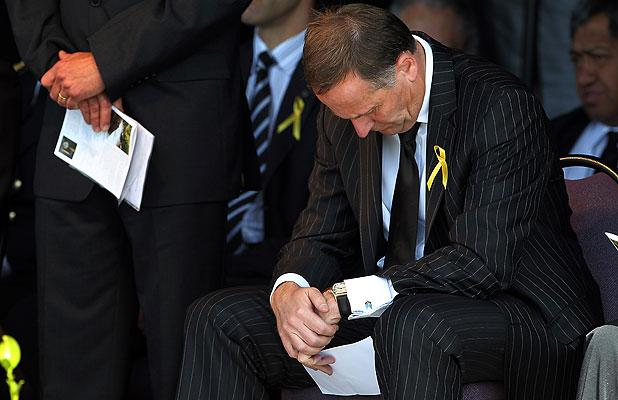ONE YEAR ON: Prime Minister John Key takes a moment.