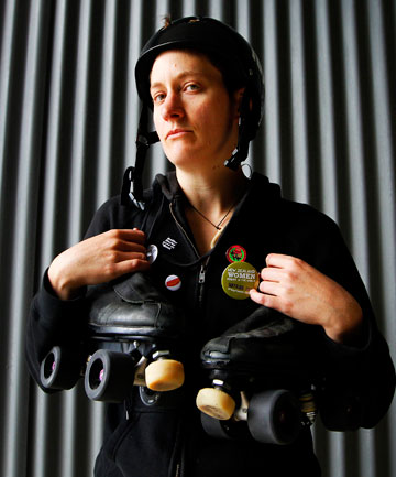 WORLD CLASS: Wellington roller derby star Merryn McAulay is off to represent New Zealand at the Roller Derby World Cup.