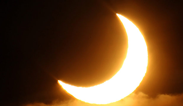 NIGHT SHOW: The partial solar eclipse will take place about 7.30pm on Friday.