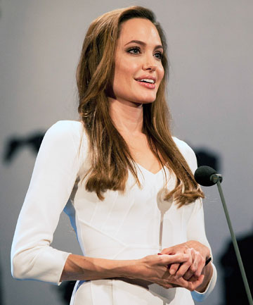 "HITTING BACK: Angelina Jolie has defended her slender physique, saying she has ""always been lean""."