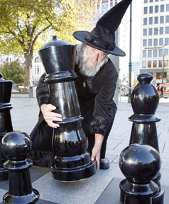 A giant chess set opens tonight in Sydenham.