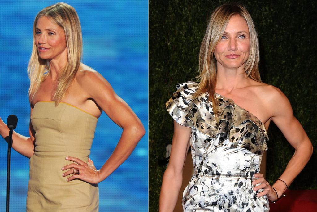 Cameron Diaz is famous for her active lifestyle, often pictured surfing.