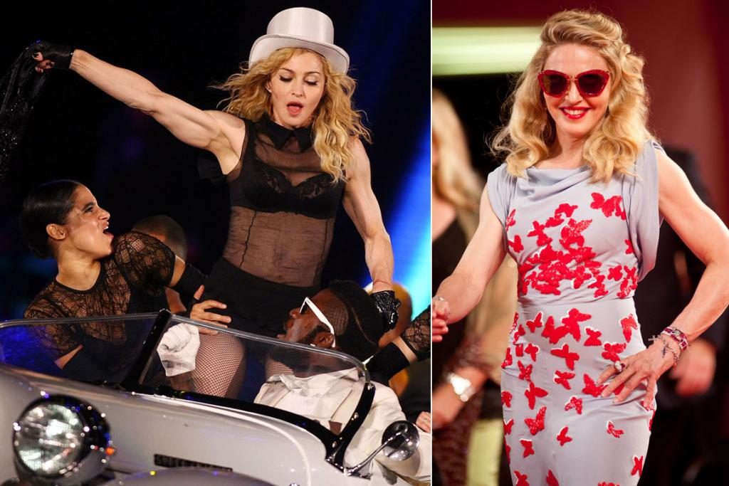 Fifty-three-year-old Madonna's bulging muscles have earned her both criticism and admiration.