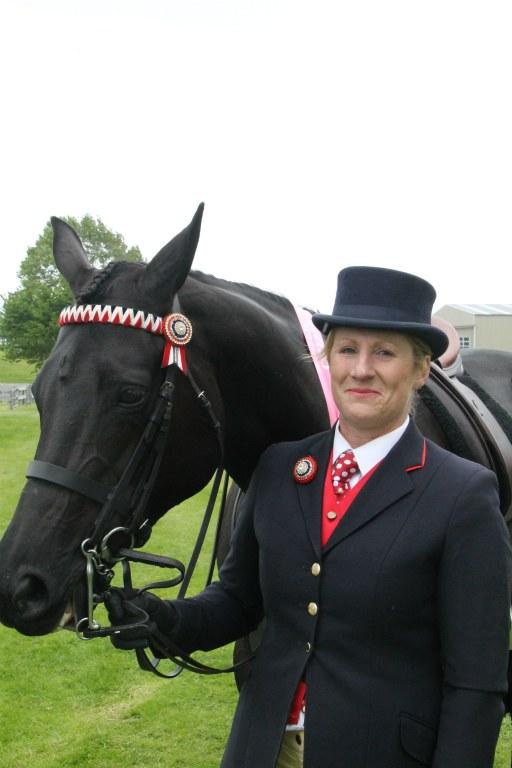 BACKING BLACK: Winton's Julianne Haynes won champion hack and supreme champion equine with her mare Villa Maria. at the South Otago A and P Show.