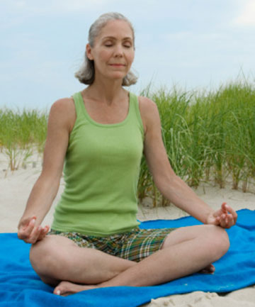 RELIEF: Menopausal symptoms like hot flashes, night sweats, anxiety, and irritability can be reduced with yoga practice.