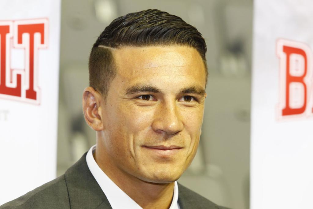 Sonny Bill Williams at the Hamilton's Claudelands Events centre, announcing his return to boxing.