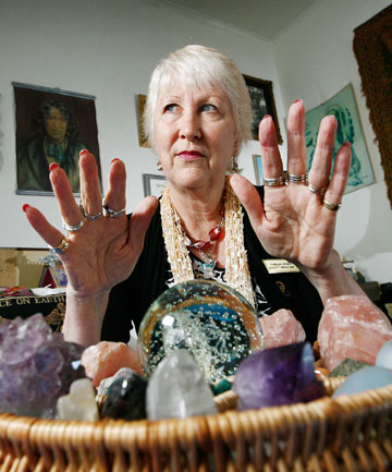 Spiritualist Kathryn Weldon says everyone is born with psychic powers but now more people are believers. ''It's, do they tune in, do they trust it, do they believe what they are tuning into?''