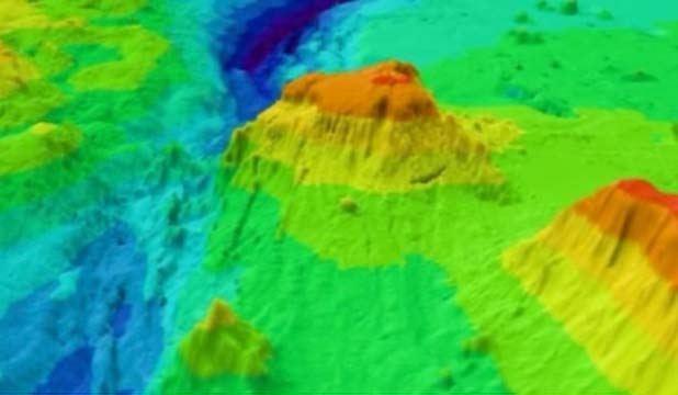 Volcano on Tonga Trench