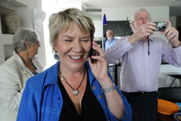 National candidate for Christchurch Central Nicky Wagner finally hears that she has the seat over Labour's Brendon Burns.