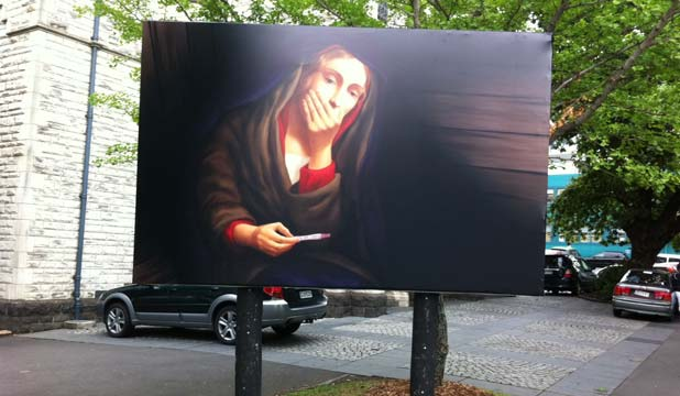 St Matthew's Mary billboard