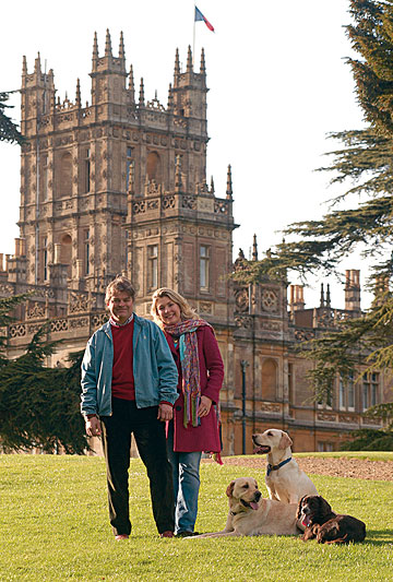 THE REAL THING: Lord and Lady Carnarvon live at the Highclere Castle, better known to television viewers in 100 countries as Downton Abbey.