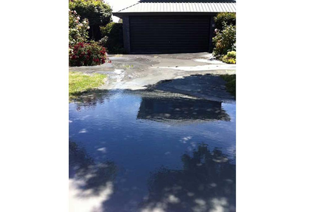 Liquefaction on Stour Dr, Burwood