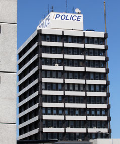 MOVING OUT: Police staff are moving out of the central Christchurch station.