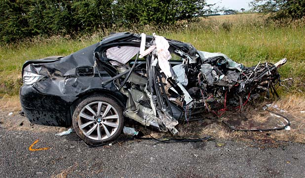 Crushed Car May Have Saved Driver S Life Stuff Co Nz
