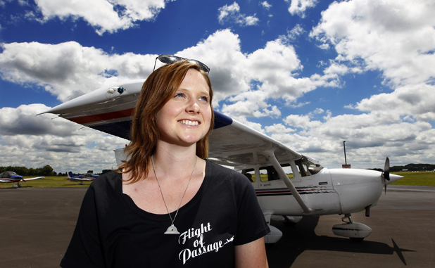 AIMING HIGH: Cambridge woman Chloe Milne is trying to land at 21 runways around New Zealand to celebrate her 21st birthday.