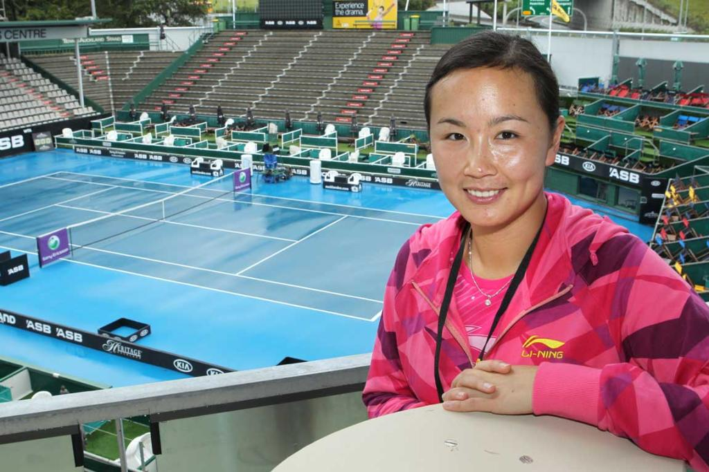 Number two seed Shuai Peng meets the press prior to the 2012 ASB Classic.