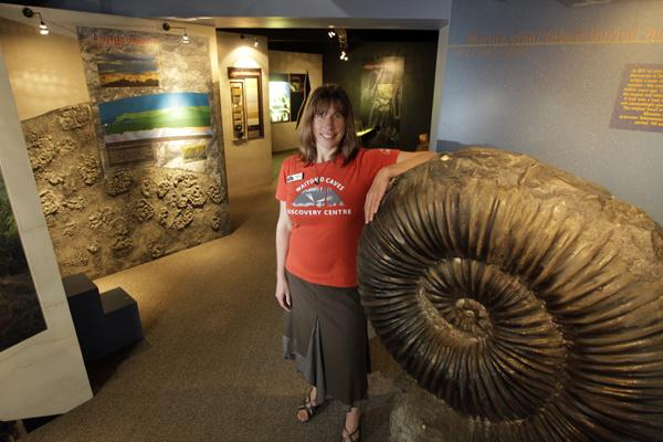 UNDERGROUND DELIGHT: Celina Yapp, managing director of the discovery centre, loves sharing cave history with visitors.