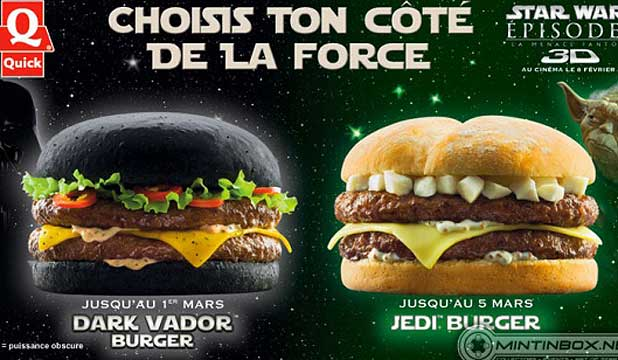 Darth Vador burger