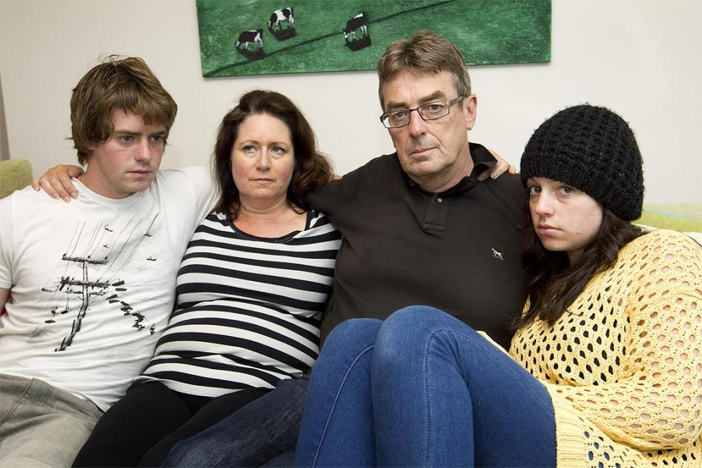 Parents of crash vitim Alexis Still, Allan and Vivienne Still with her two older siblings Ben, 22, and Emma-Jane, 24.