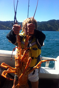 Boy Drags Up Whopper Crayfish Stuffconz