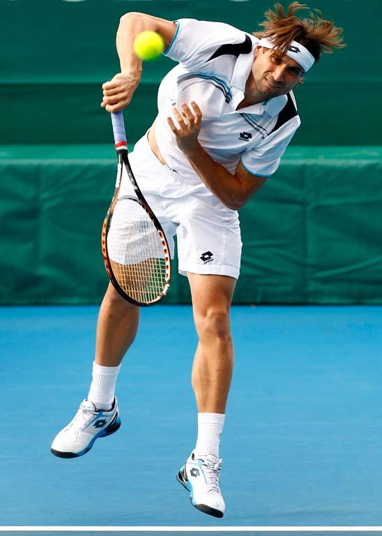 David Ferrer of Spain at the Heineken Tennis Open day two.