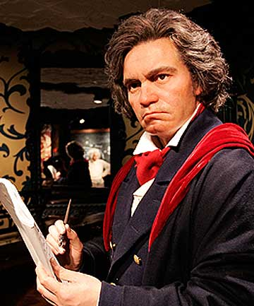 MISERABLE OLD MAN: Ludwig van Bethoven, at Madame Tussauds' in Berlin.