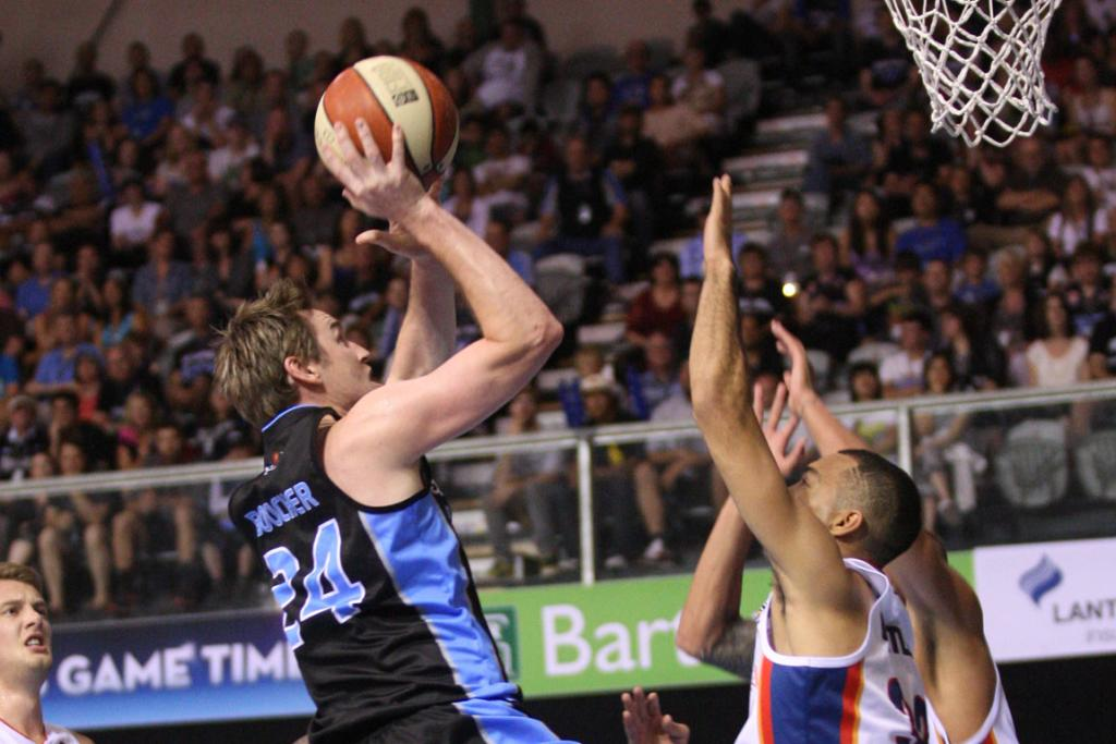 Breakers forward Dillon Boucher puts up a shot against the Adelaide 36ers.