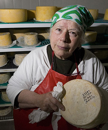 COMPLIANCE COSTLY: Cheese maker Biddy Fraser-Davies.