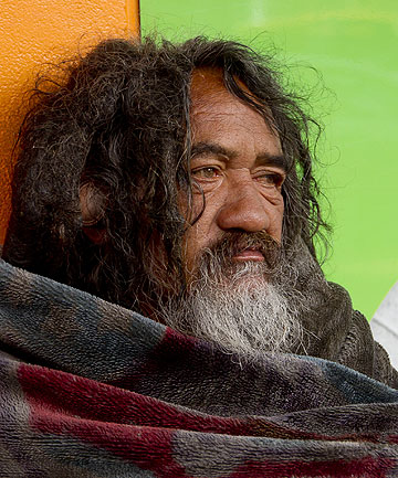 "STREET IDENTITY: Ben Hana, popularly called ""Blanket Man"", was a well-known personality on Wellington's city streets."
