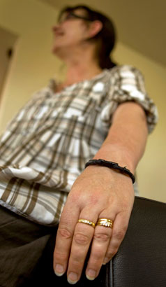 ENERGISED: Sharyn McLean admits she was prepared to have faith that her magnetic bracelet would improve her fatigue, and is pleased with the results.