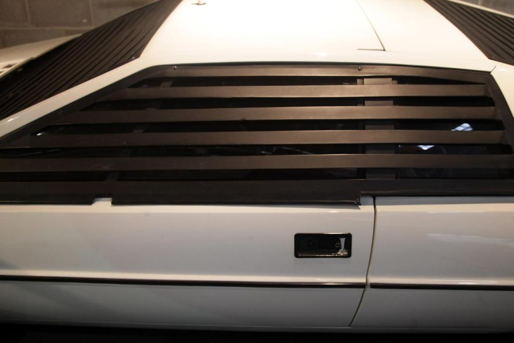 A Lotus Esprit S1 that was used in the James Bond film The Spy Who Loved Me in the Bond In Motion exhibition, showcasing a wide variety of vehicles used in the films.