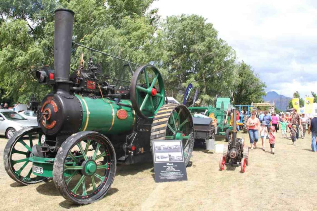 The 1896 steam traction engine ``Woozle'' on display at the Lake Hayes A & P Show.