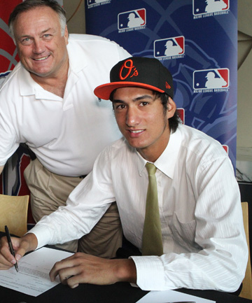 PROUD DAY: Pita Rona has signed a deal with Major League franchise Baltimore Orioles.