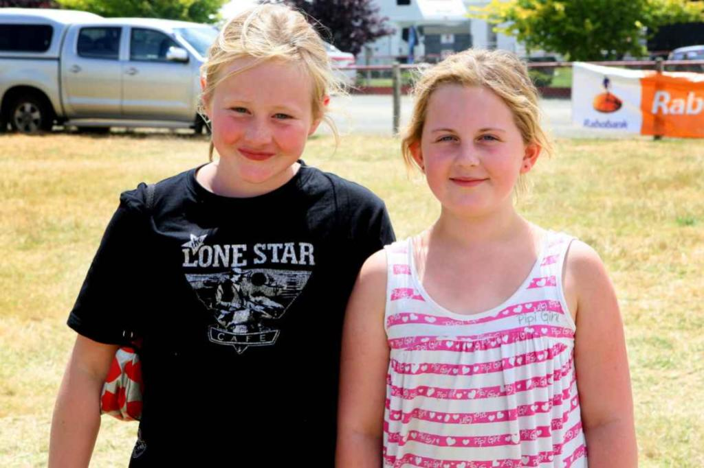 WINTON A & P SHOW: Paige Wilson, and Amelia Anderson, both 10, of Centre Bush.