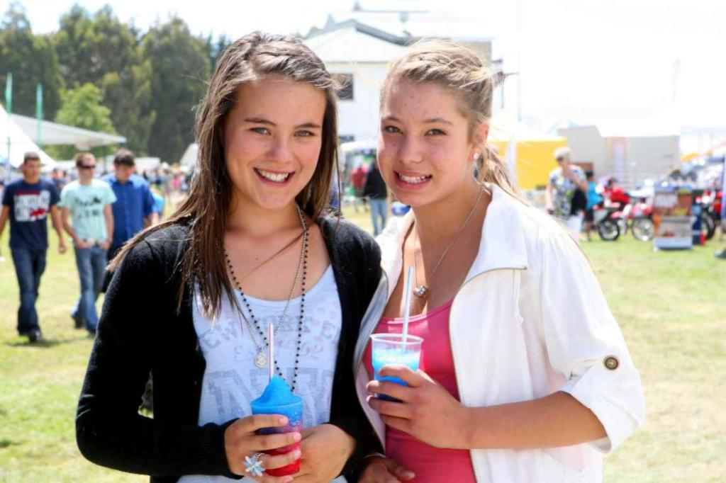 WINTON A & P SHOW: Shay Cruickshank, and Amy du Piessis, both 12, of Winton.