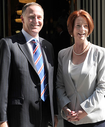 John Key and Julia Gillard