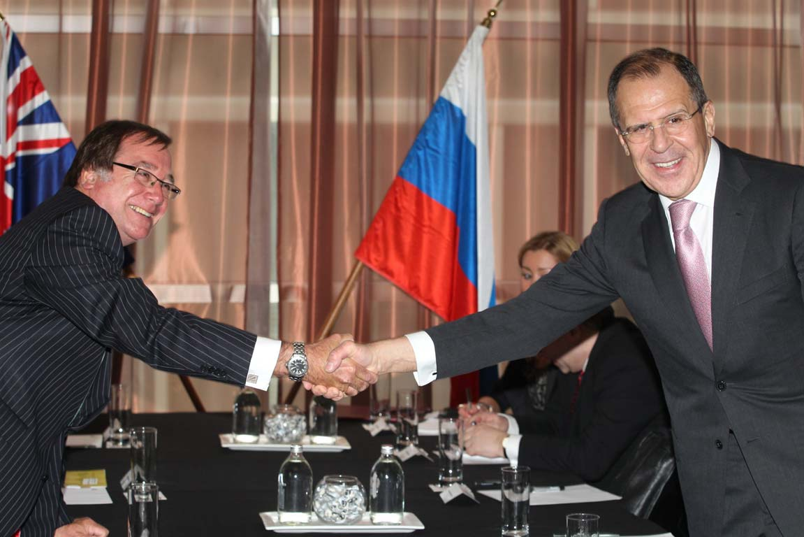 Murray McCully Sergei Lavrov