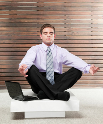 FEEL THE SERENITY: A few basic moves and some deep breathing can make the world of difference for office-bound workers.