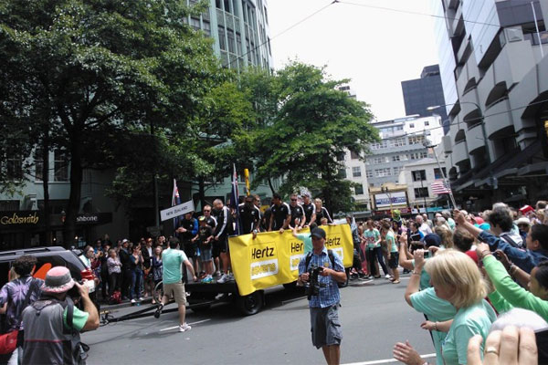 2012 Wellington Sevens parade
