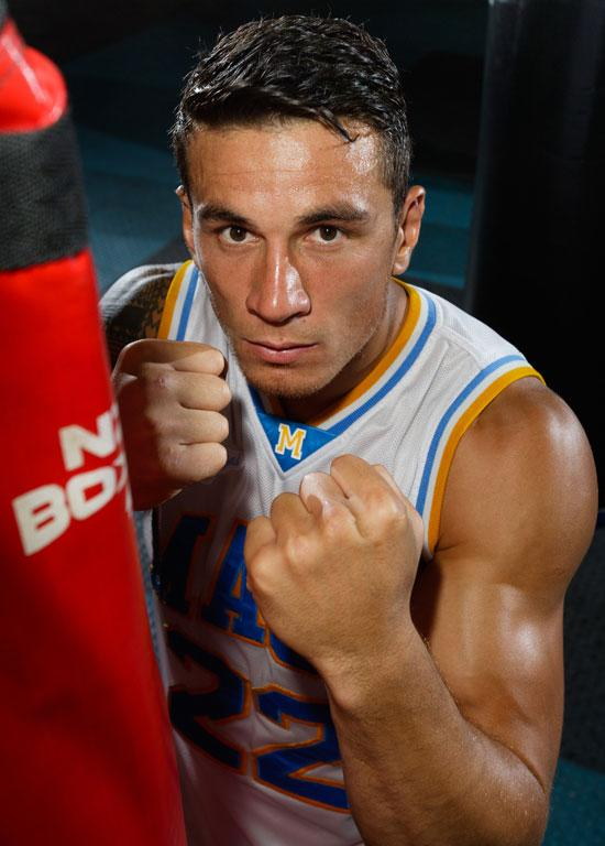 Sonny Bill Williams poses after a sparring session in Auckland.