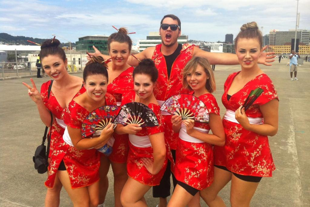 Japan cheer squad from Blenheim.