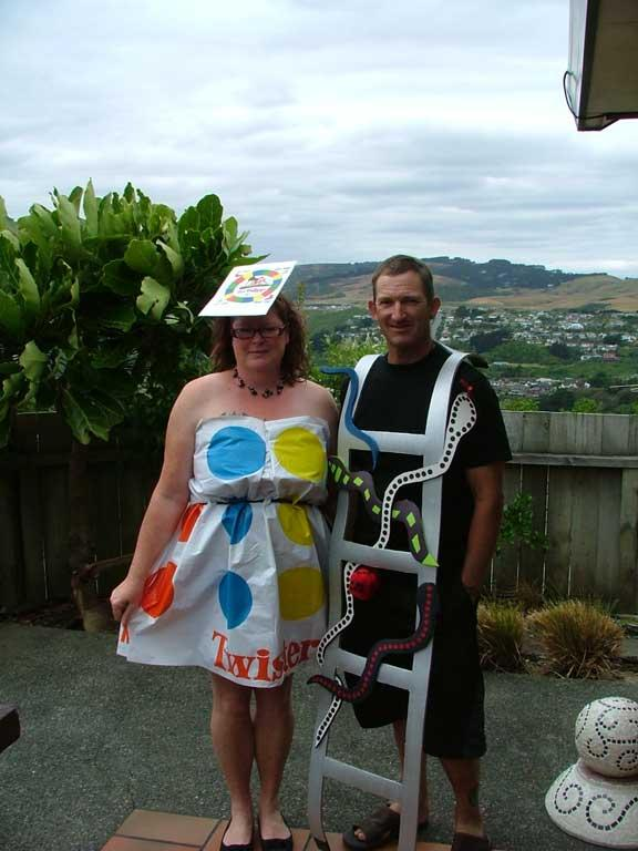 Twister and Snakes and Ladders, from Napier.