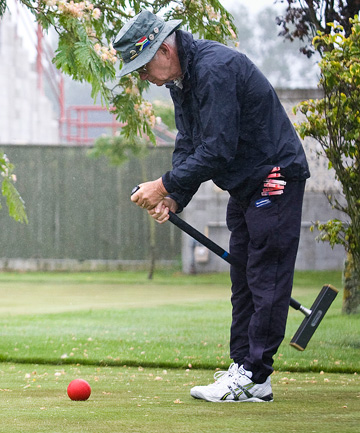 MALLET MAN: Mike McClure is a golf croquet player from Nelson who makes mallets.